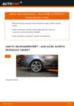 Kuinka vaihtaa iskunvaimentimet taakse Audi A4 B8-autoon – vaihto-ohje
