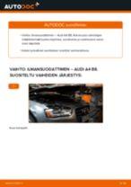 Kuinka vaihtaa ilmansuodattimen Audi A4 B8-autoon – vaihto-ohje