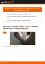Kako zamenjati avtodel končnik stabilizatorja zadaj na avtu BMW E60 – vodnik menjave