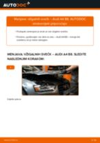 AUDI A8 navodila za popravilo in vzdrževanje