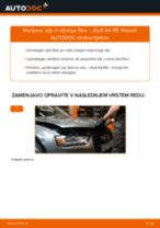 AUDI A8 priročnik za odpravljanje težav