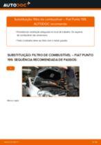Como mudar filtro de combustível em Fiat Punto 199 - guia de substituição