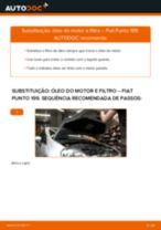 Como mudar óleo do motor e filtro em Fiat Punto 199 - guia de substituição