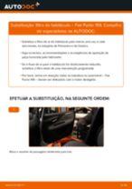 Como mudar filtro habitáculo em Fiat Punto 199 - guia de substituição
