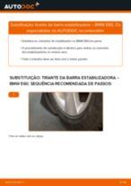 Como mudar tirante da barra estabilizadora da parte traseira em BMW E60 - guia de substituição