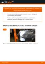 Como mudar filtro de combustível em BMW E60 - guia de substituição