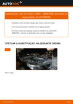Como mudar óleo do motor e filtro em BMW E60 - guia de substituição