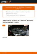 Como mudar filtro de ar em BMW E60 - guia de substituição