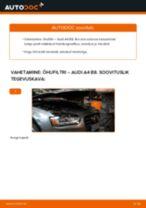 Kuidas vahetada Audi A4 B8 õhufiltri – õpetus