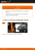 Üzemanyagszűrő-csere BMW E60 gépkocsin – Útmutató