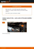 Kā nomainīt: gaisa filtru Audi A4 B8 - nomaiņas ceļvedis