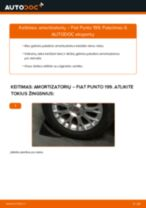 Automechanikų rekomendacijos FIAT Fiat Punto 199 1.4 Skersinės vairo trauklės galas keitimui