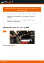 Kaip pakeisti BMW E60 pakabos statramstis: galas - keitimo instrukcija