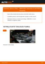 Kaip pakeisti BMW E60 variklio alyvos ir alyvos filtra - keitimo instrukcija