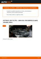 Kaip pakeisti BMW E60 oro filtro - keitimo instrukcija