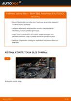 Kaip pakeisti BMW E60 salono filtro - keitimo instrukcija