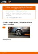 Kaip pakeisti ir sureguliuoti Amortizatorius AUDI A4: pdf pamokomis