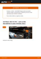 Kaip pakeisti Audi A4 B8 oro filtro - keitimo instrukcija
