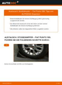 Wie der Wechsel durchführt wird: Stoßdämpfer 1.3 D Multijet Fiat Punto 199 tauschen