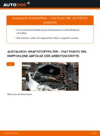 Wie der Wechsel durchführt wird: Kraftstofffilter 1.3 D Multijet Fiat Punto 199 tauschen