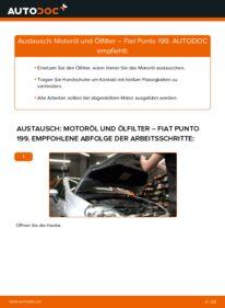 Wie der Wechsel durchführt wird: Ölfilter 1.3 D Multijet Fiat Punto 199 tauschen