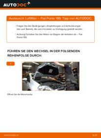 Wie der Wechsel durchführt wird: Luftfilter 1.3 D Multijet Fiat Punto 199 tauschen