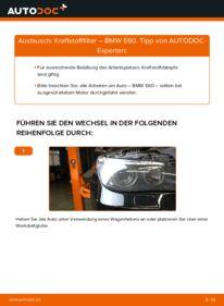 Wie der Wechsel durchführt wird: Kraftstofffilter 530d 3.0 BMW E60 tauschen