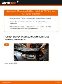 Wie der Wechsel durchführt wird: Ölfilter 2.0 TDI Audi A4 B8 tauschen