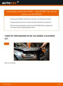 Vervangen: Oliefilter AUDI A4