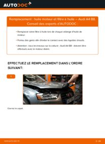 Comment effectuer un remplacement de Filtre à Huile sur 2.0 TDI Audi A4 B8