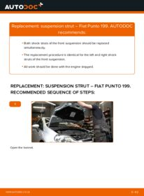 How to carry out replacement: Shock Absorber on 1.3 D Multijet Fiat Grande Punto 199
