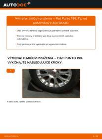 Ako vykonať výmenu: Tlmič pruzenia na 1.3 D Multijet Fiat Punto 199