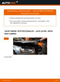 Kuidas välja vahetamist läbi viia: 2.0 TDI Audi A4 B8 Sedaan Süüteküünal