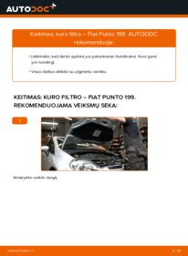Kaip atlikti keitimą: 1.3 D Multijet Fiat Punto 199 Kuro filtras
