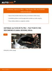Kaip atlikti keitimą: 1.3 D Multijet Fiat Punto 199 Alyvos filtras