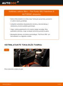 Kaip atlikti keitimą: 1.3 D Multijet Fiat Punto 199 Oro filtras, keleivio vieta