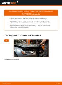 Kaip atlikti keitimą: 2.0 TDI Audi A4 B8 Sedanas Alyvos filtras
