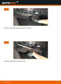 Kaip atlikti keitimą: 2.0 TDI Audi A4 B8 Sedanas Oro filtras, keleivio vieta