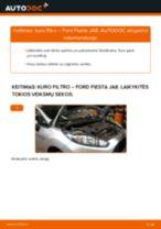 Kaip pakeisti Ford Fiesta JA8 kuro filtro - keitimo instrukcija