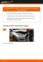 Kaip pakeisti Ford Fiesta JA8 variklio alyvos ir alyvos filtra - keitimo instrukcija