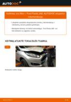 Kaip pakeisti Ford Fiesta JA8 oro filtro - keitimo instrukcija