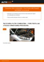 Cum să schimbați: filtru combustibil la Ford Fiesta JA8 | Ghid de înlocuire