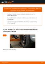 Instalación Cable de accionamiento freno de estacionamiento FORD FIESTA VI - tutorial paso a paso