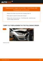 PDF replacement tutorial: Oil filter FORD Fiesta Mk6 Hatchback (JA8, JR8)