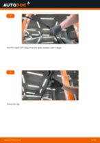 How to change front windshield wipers on Ford Fiesta JA8 – replacement guide