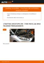 Mekanikerens anbefalinger om bytte av FORD Ford Fiesta Mk5 1.4 16V Drivstoffilter