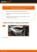 Jak vyměnit motorový olej a olejový filtr na Ford Fiesta JA8 – návod k výměně