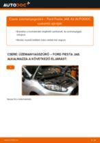 Üzemanyagszűrő-csere Ford Fiesta JA8 gépkocsin – Útmutató