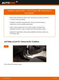 Kaip atlikti keitimą: 1.25 Ford Fiesta Mk6 Oro filtras, keleivio vieta