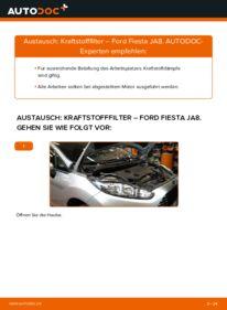 Wie der Wechsel durchführt wird: Kraftstofffilter 1.25 Ford Fiesta Mk6 tauschen